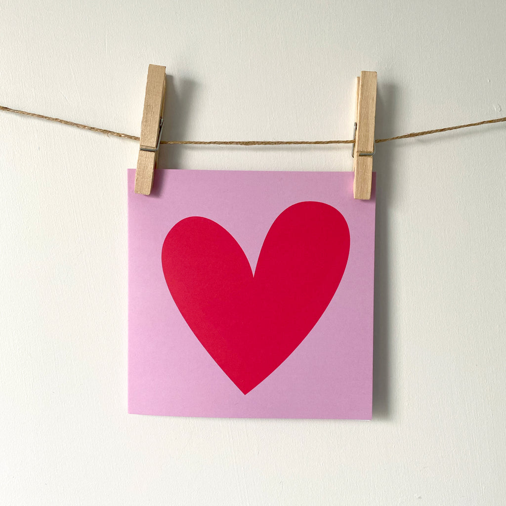 'Heart' Greetings Card