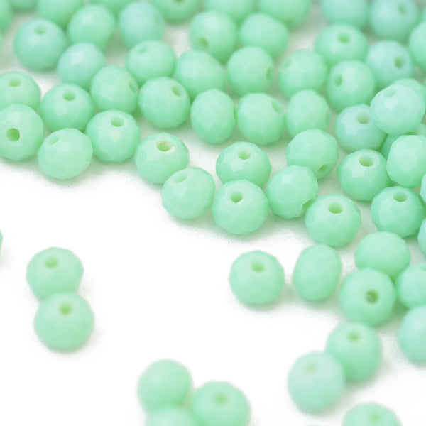 Briolette facettiert mint / 6mm