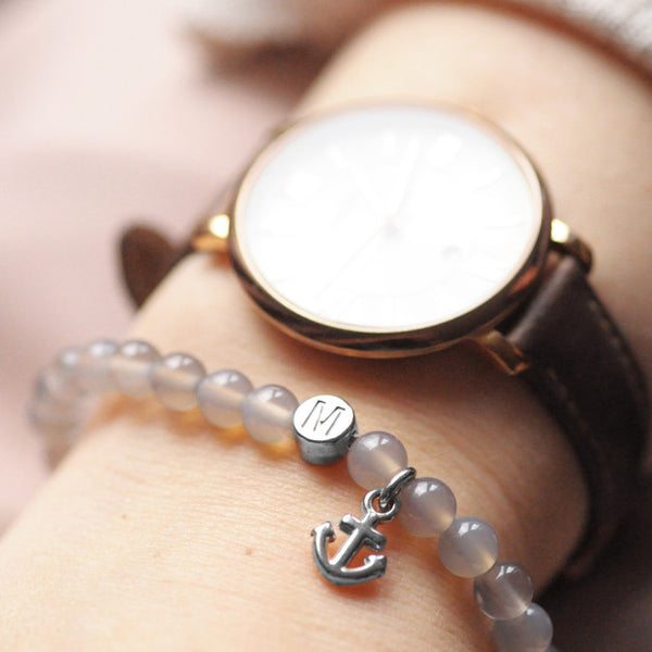 Partnerarmband Set Grey Anker