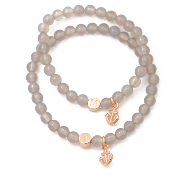 "Partnerarmband Set ""Grey"" rosé"