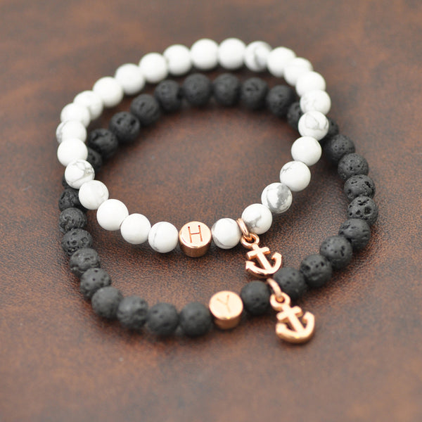 "Partnerarmband Set ""Black & White"""