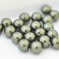 Swarovski Crystal Pearls / Dark Green / Ø 6mm / 100 Stk.