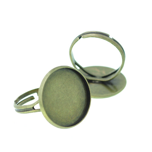 Cabochon Ring Rohling / messing / für 18mm