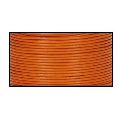 Lederband orange 1m  /  Ø 1mm