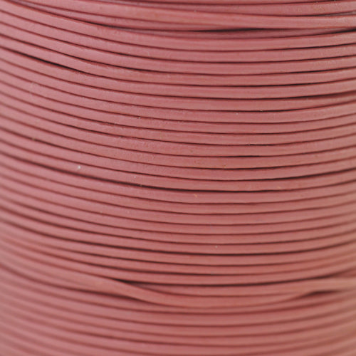 Lederband vintage rose 1m  /  Ø 1mm