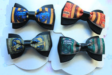 Load image into Gallery viewer, Hogwarts House Layered Tuxedo Bow Clip