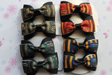 Hogwarts House Single Layered Tuxedo Bow Set