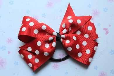 Minnie Inspired Pinwheel Bow Hair Tie