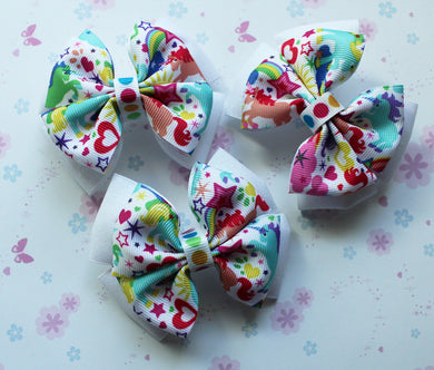 Unicorn Dual Layered Tuxedo Bow