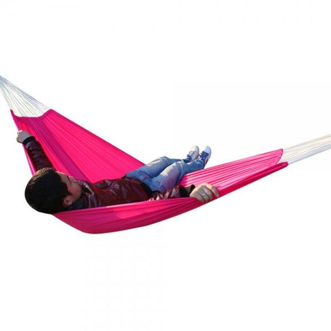 Travel Camping Outdoor Parachute Nylon Fabric Hammock Swing for Double Person