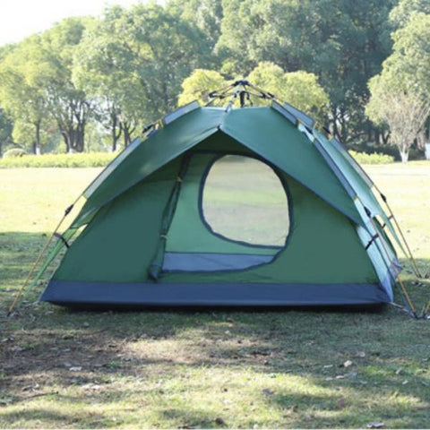 Double Layers Hydraulic Automatic Double Multifunction Tent Green