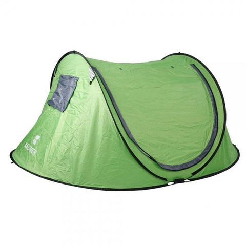 GJ031A Outdoor Waterproof UV-proof 3-4 People Auto Camping Tent Green
