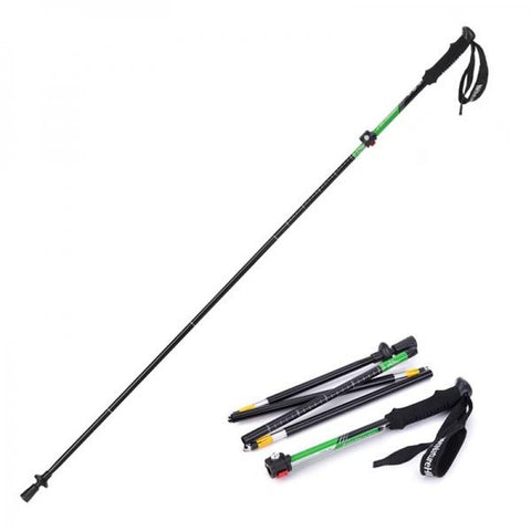 NatureHike Ultralight Outdoor Folding Alpenstocks Trekking Pole Walking Stick Green