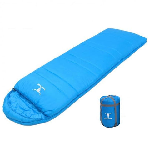 Candy Color Outdoor Camping Couple Spring & Summer Sleeping Bag Blue
