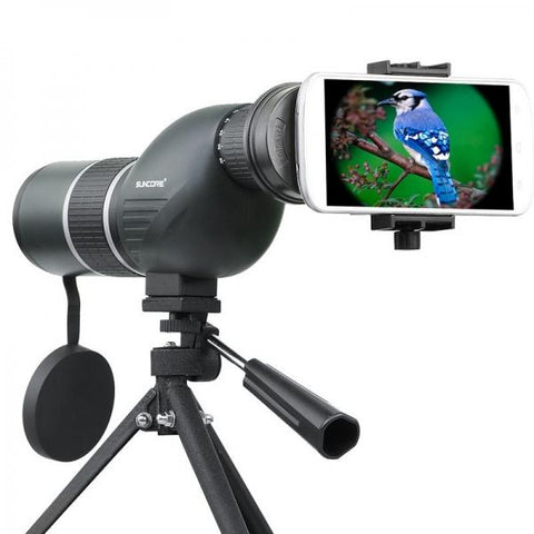 SUNCORE IPRee 12-36x50S Monocular Telescope HD Optic Zoom Lens Bird Watching High Definition View Eyepiece Black