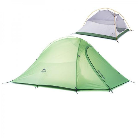 Ultralight Naturehike 2 Person Double Layer Outdoor Camping Tent Waterproof Tent Green
