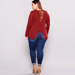 Plus Size Ripped Stretch Denim