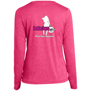 Bodacious 360 Ladies' LS Heather Dri-Fit V-Neck T-Shirt