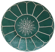 Load image into Gallery viewer, Moroccan Pouf | Ottoman Green