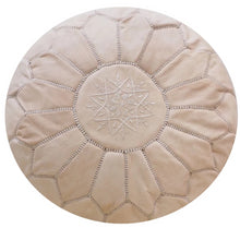 Load image into Gallery viewer, Natural No Dye Moroccan Pouf | Ottoman