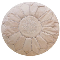 Moroccan Pouf | Ottoman Natural Beige
