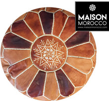 Load image into Gallery viewer, Moroccan Pouf | Ottoman in Caramel Shades
