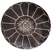 Load image into Gallery viewer, Moroccan Pouf | Ottoman Tobacco Dark