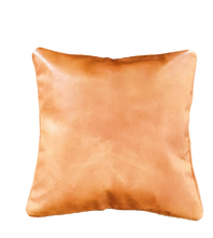 Load image into Gallery viewer, Caramel Cognac Leather Cushion 16 x 16