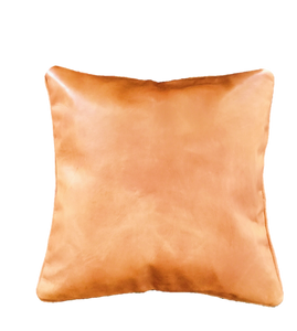 Caramel Cognac Leather Cushion 16 x 16