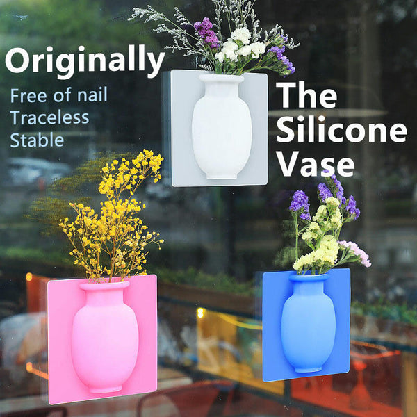 Removable Silicone Flower Pot Decoration