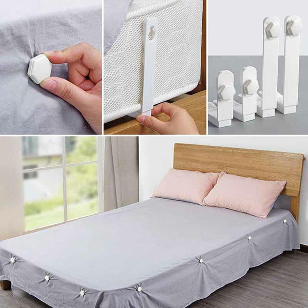 4Pcs Bed Sheet Clips with Antiskid Buckle