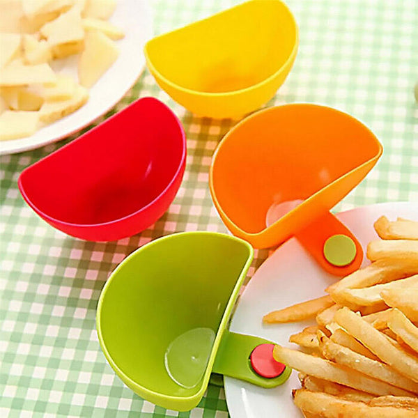 4Pcs Dip Clip Bowl Plate Holder