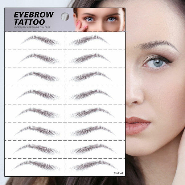 4D Waterproof Imitation Eyebrow Tattoo Stickers
