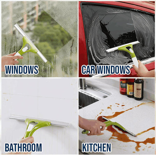 2 In 1 Sprayer And Glass Cleaner Washing Scraper - Green