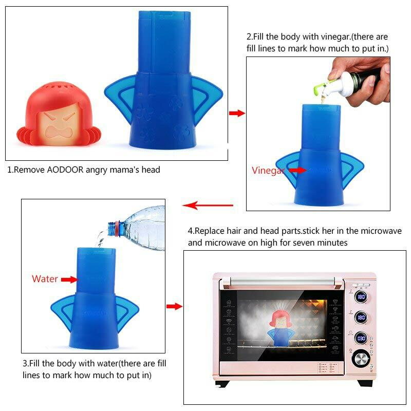 Microwave Oven Steam Cleaning Tool
