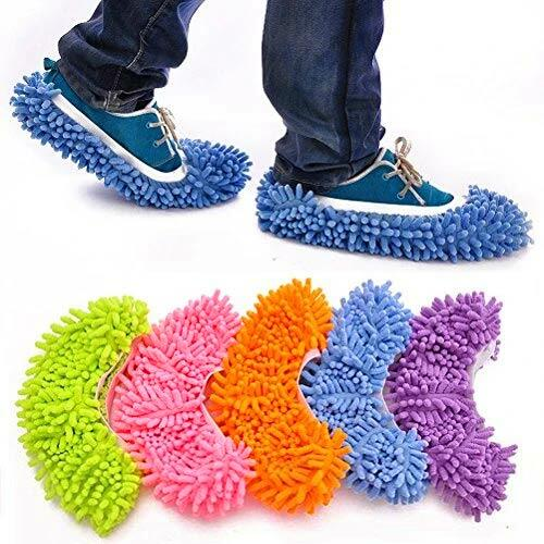 5Pairs Soft Washable Shoe Cover Mop