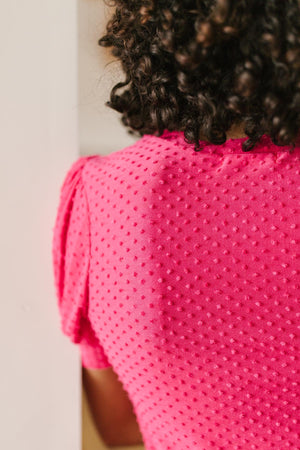 Tender Kisses Top in Fuchsia