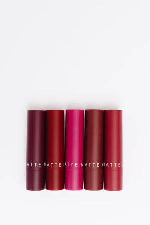 Madeline Matte Lipstick: The Plum Collection