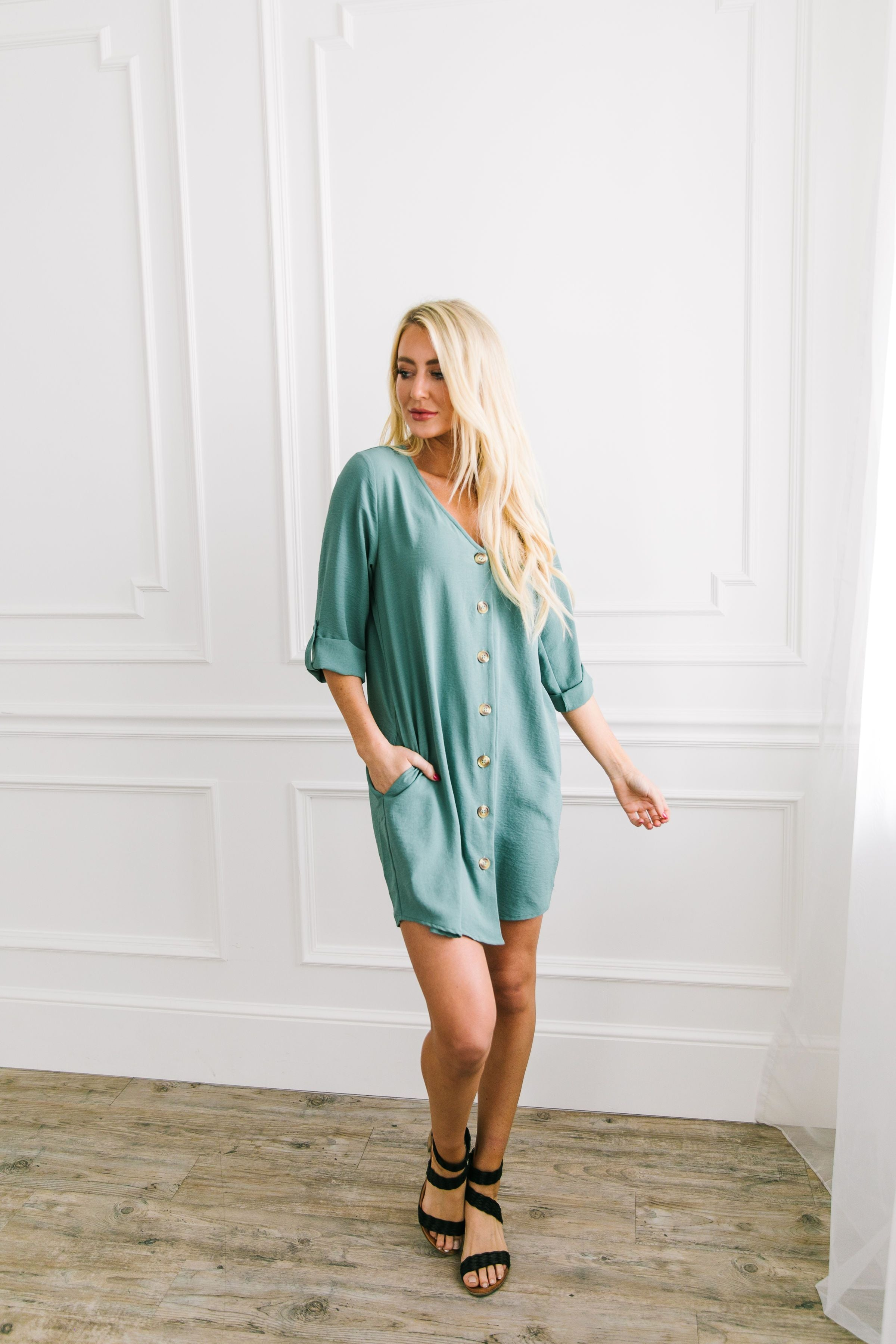 Business As Usual Shirt Dress