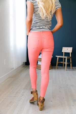 Everyday Colored Jeggings in Coral
