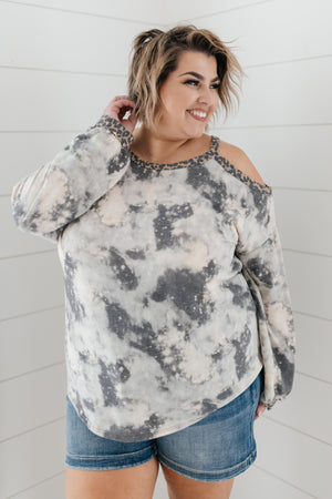First Of The Season Tie Dye Top in Grey
