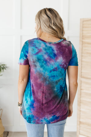 Forever in Love Tee in Teal and Purple