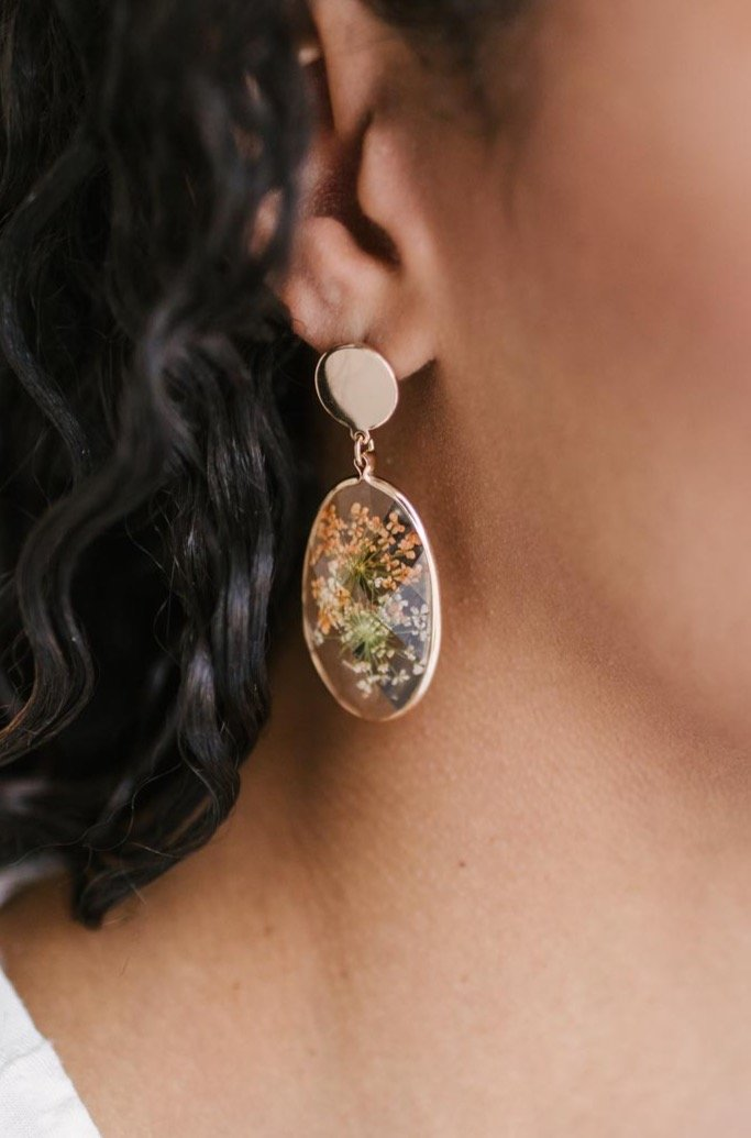 Impressively Pressed Earrings in Marigold