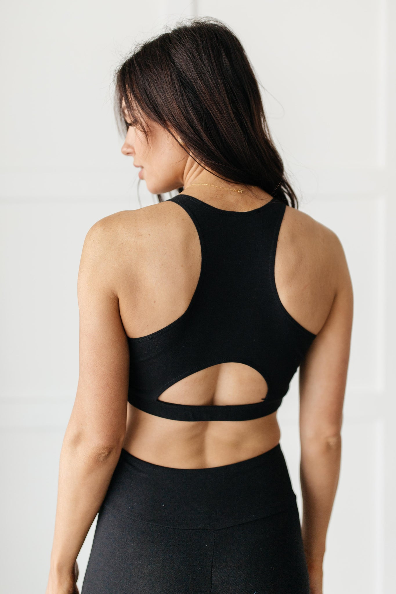 Lazy Days Racerback Bra in Black