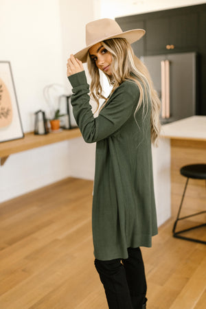 Million Dollar Olive Cardigan