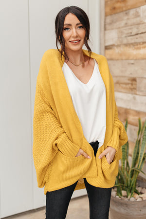 Not Your Grandmother's Cardigan in Sunflower