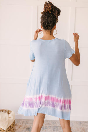 Parallel Lines Tie Dye Dress