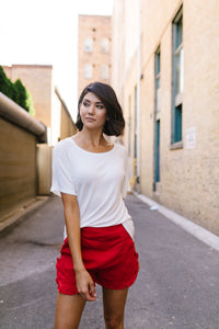 Boatneck Tee In Ivory