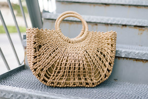 Brown Straw Purse - ALL SALES FINAL