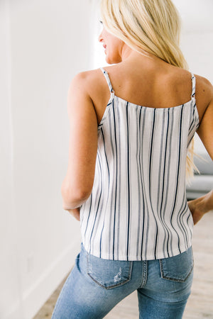 Business Or Pleasure Striped Tank - ALL SALES FINAL